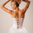 Brides back — Stock Photo