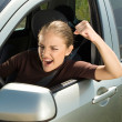 Angry womdriver — Stock Photo #14176138