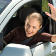 Road rage driver. — Stock Photo