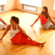 Real yoga class — Stock Photo #14176207