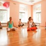 Yoga practice — Stock Photo
