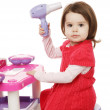 Little girl plays — Stock Photo #14176313