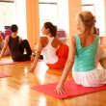 Practicing yoga — Stock Photo