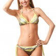 Young happy woman in bikini - Stock Photo