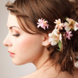 Bridal hairstyle — Stock Photo