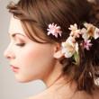 Bridal hairstyle — Stock Photo