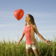 Girl with balloon — Foto de Stock