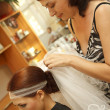 Brides hair — Stock Photo