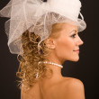 Retro bride profile — Stock Photo