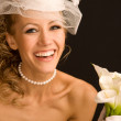 Happy retro bride - Stock Photo
