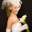 Cheerful retro bride — Stockfoto