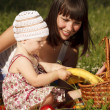 Stock Photo: Having fun on picnic