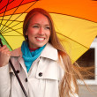 Color umbrella - Stock Photo