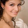 Close-up of a brunette bride - Stock Photo