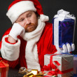 Tired santa — Stock Photo