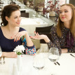 Стоковое фото: Chatting in the restaurant