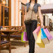 Foto Stock: Young woman shopping