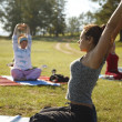 Yoga practicing outdoors — 图库照片 #14177149