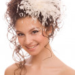 Head And Shoulders of the modern bride — Stock Photo