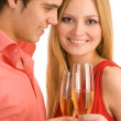 Happy couple celebrate — Stock Photo #14177188