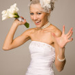 Will you catch a bouquet? — Stock Photo