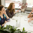 Friends in the restaurant — Stock Photo