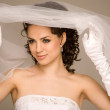 Cheerful bride — Stockfoto