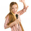 Screaming rock star — Stock Photo