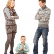 Family misunderstanding — Stock Photo