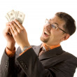 Businessman with dollars — Stock Photo