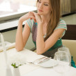 Waiting at the table — Stock Photo