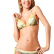 Young happy woman in bikini — Stock Photo