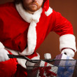 Purposeful Santa — Stock Photo