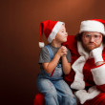 Sad santa — Stock Photo