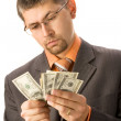 Counting money — Stock Photo