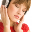 Teenager enjoying music — Stock Photo