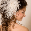 Stock Photo: Feather hairpin