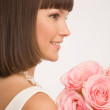 Stock Photo: Profile of bride