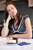 Dreaming about cake — Stock Photo