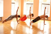 Real doing yoga — Foto Stock