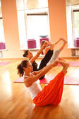 Yoga at club — Stock Photo