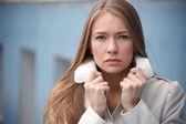 грустно женщина — Стоковое фото