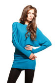 Blue pullover — Stock Photo