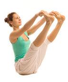 Dziewczynka joga — Zdjęcie stockowe