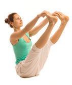 Yoga girl — Stockfoto