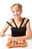 äta japanise mat — Stockfoto