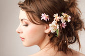 Bridal hairstyle — Foto Stock