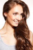 Young woman with a beautiful hair — Stock Photo