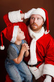 Hard Santas job — Stock Photo