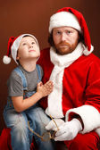 Hard Santas job — Stockfoto